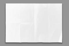Empty white Crumpled paper Stock Photo
