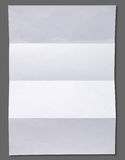 Empty white Crumpled paper. On gray background vertical Royalty Free Stock Photography