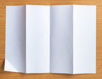 Empty white Crumpled paper Royalty Free Stock Photos
