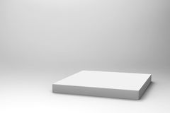 Empty white cube background Stock Photography