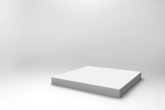 Empty white cube background Stock Images