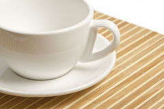 Empty white cup Royalty Free Stock Images