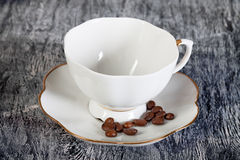 Empty white cup for coffee Royalty Free Stock Image