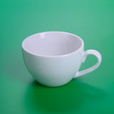 Empty white cup Stock Photo