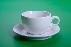 Empty white cup Royalty Free Stock Photo