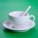Empty white cup Royalty Free Stock Image