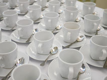 Empty white cup Royalty Free Stock Photos