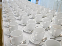 Empty white cup Stock Photography