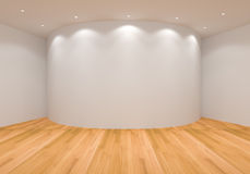 Empty White Curve Room Stock Image