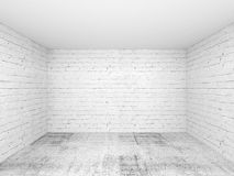 Empty white 3d room interior background Stock Photos