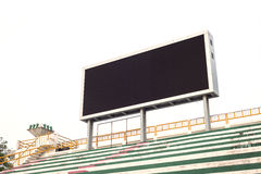 Empty white digital billboard screen for advertising Stock Photography