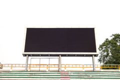 Empty white digital billboard screen for advertising Royalty Free Stock Images
