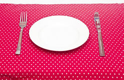 Empty white dinner plate Royalty Free Stock Images