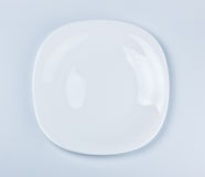 Empty white dish Royalty Free Stock Photos