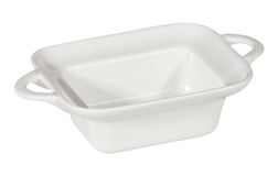 Empty white dish. Isolated on white background Royalty Free Stock Image