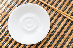 Empty white dish. Royalty Free Stock Images