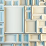 Empty white frames. Stock Images