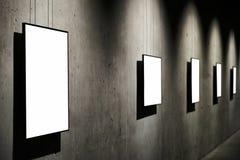 Empty white  frames Stock Photos