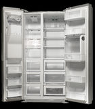 The empty white fridge Royalty Free Stock Image