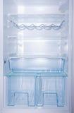 Empty white fridge Stock Photo