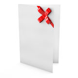 Empty white greeting card with red Royalty Free Stock Photography