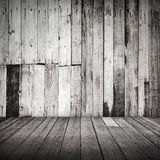 Empty white grungy wooden interior Stock Photo