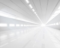 Empty white hall. Vector illustration. Royalty Free Stock Photo