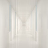 Empty White Interior Stock Photography