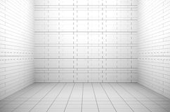 Empty white interior. White windowless interior. 3D rendered image Royalty Free Stock Images