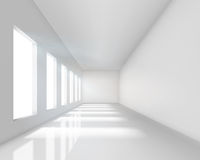 Empty white interior Stock Image