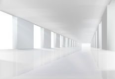 Empty white interior. Vector illustration. Royalty Free Stock Photos