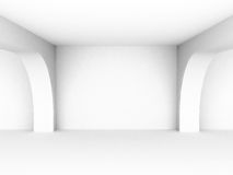 Empty white interiorr perspective background Stock Photo