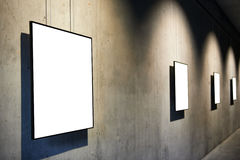 Empty white isolated frame Stock Photography