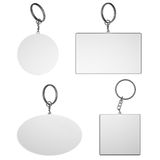 Empty white key rings on isolated background Royalty Free Stock Photo