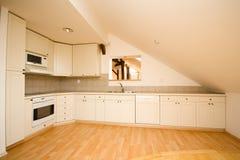 Empty  white kitchen Royalty Free Stock Photo