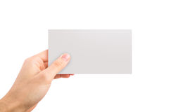 Empty White Label Royalty Free Stock Images