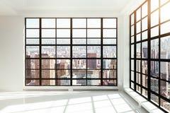 Empty white loft interior Royalty Free Stock Images