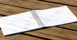 Empty white notebook Stock Photos