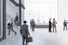 Empty white office with a reception people Royalty Free Stock Images
