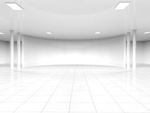 Empty white open space 3D rendering Stock Photos