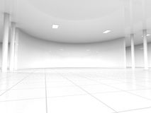 Empty white open space 3D rendering Royalty Free Stock Photos