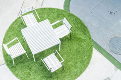 empty outdoor patio chair Royalty Free Stock Image