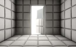 Empty Padded Cell With Open Door Stock Images
