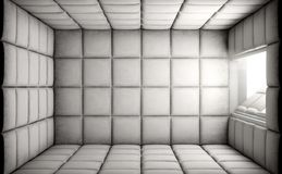 Empty Padded Cell With Open Door Stock Photo