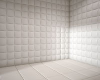 Empty white padded room Royalty Free Stock Photos