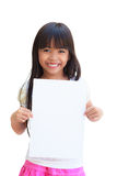 Empty white paper Stock Photography