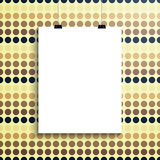 Empty white paper blank and clips Stock Photography