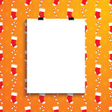 Empty white paper blank over background with Christmas canes, so Royalty Free Stock Images