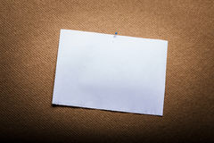Empty White Paper. On Cork Notice Board royalty free stock photography