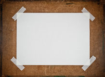 Empty white  paper on Particle board background Stock Photography